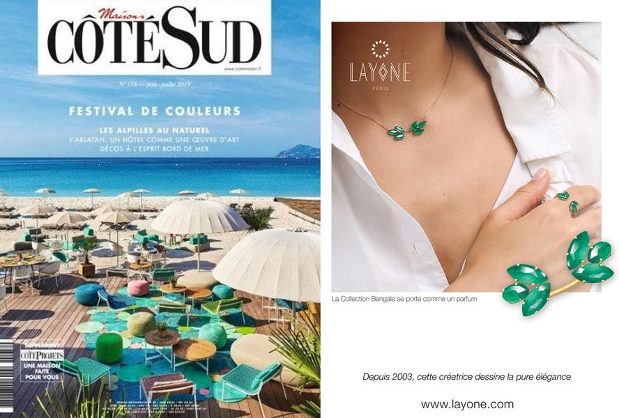 Le Magazine CÔTE SUD - La collection Bengale de la maison LAYONE Paris