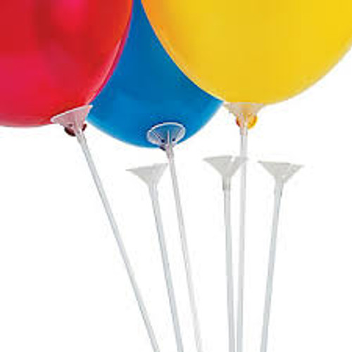 Balloon Sticks and Cups (Pack of 100)