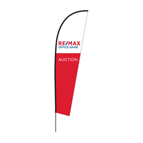 2.5 meter Bow Banner with U shaped car wheel base