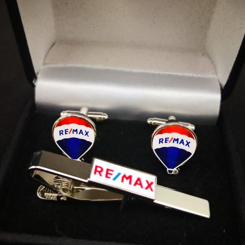 Cuff Link & Tie Bar Gift Set