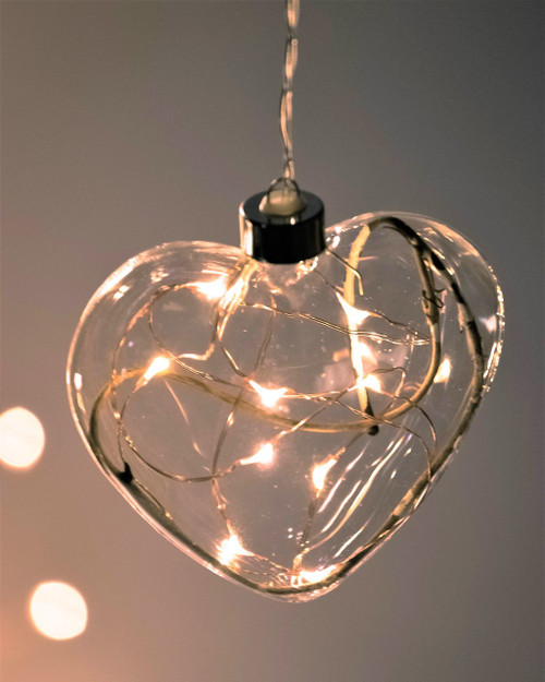 Clear Heart Hanging Glass Light *