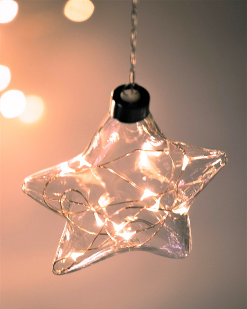 Clear Star Hanging Glass Light *