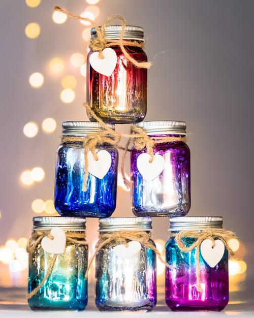 Mini Ombre Sparkle Jars*