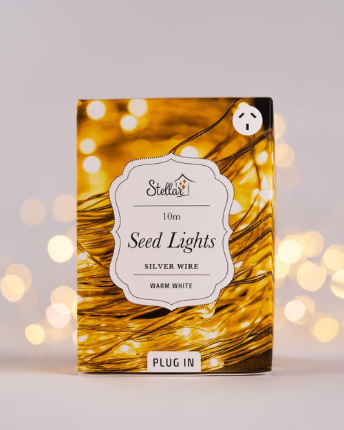 10m Plug In Silver Seed Lights*