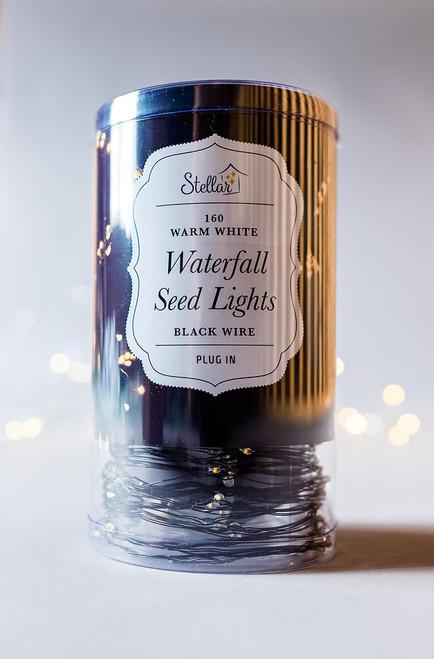 Waterfall Black Wire Seed Lights *