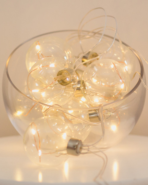 Clear Glass Spheres with Seed Lights *