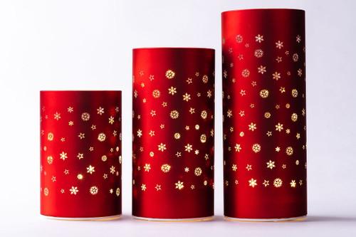 Matte Glass LED Cylinder Lanterns. 3 sizes. 2 colours. *