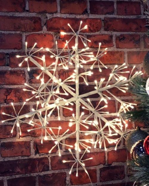 Big Fairy Light White Snowflake.*