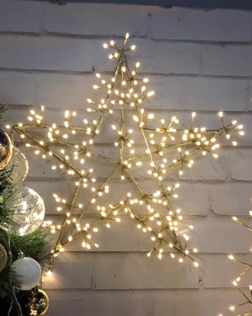 Big Fairy Light Gold Star.*