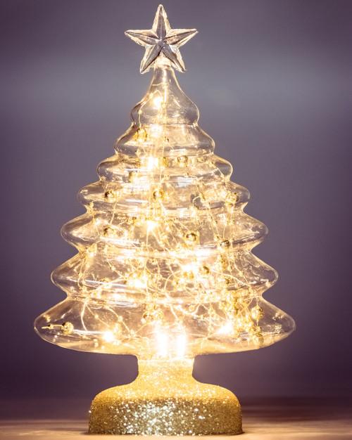 Table Top Gold Bead Christmas Tree*