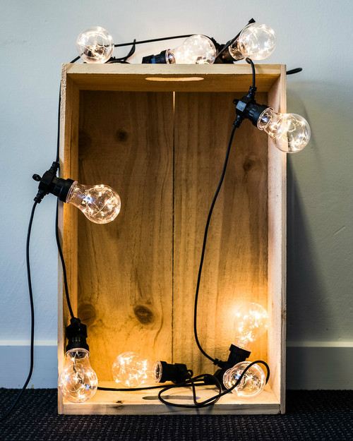 Light Bulb 5m Black Twinkle Festoons*
