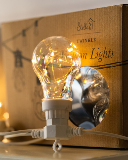 Light Bulb 5m White Twinkle Festoons*