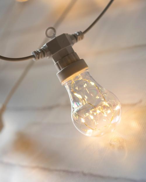 Light Bulb 5m White Twinkle Festoons*