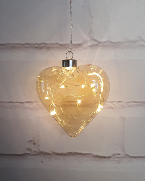 Champagne Heart Hanging Glass Light*