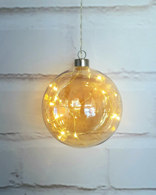 Champagne Sphere Hanging Glass Light*