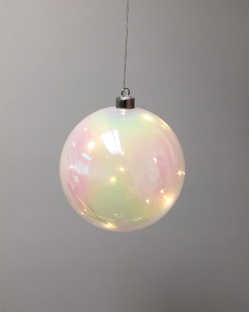White Halo Sphere Hanging Glass Light*