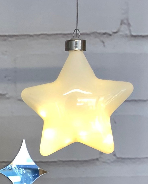 White Halo Star Hanging Glass Light*