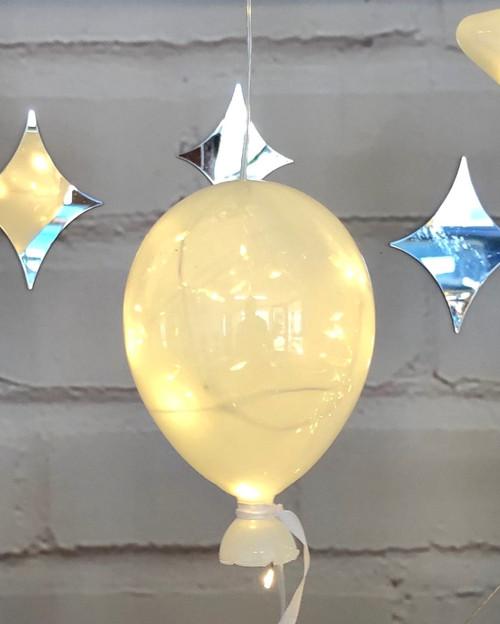 White Halo Balloon Hanging Glass Light*