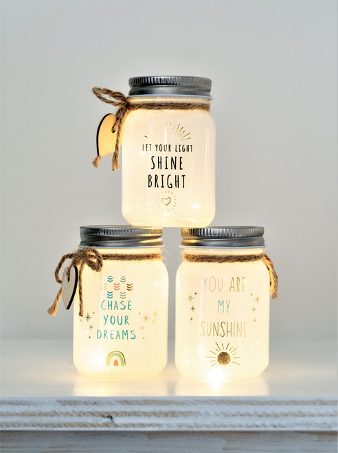 Mini Message White Sparkle Jars ~ set of 3*