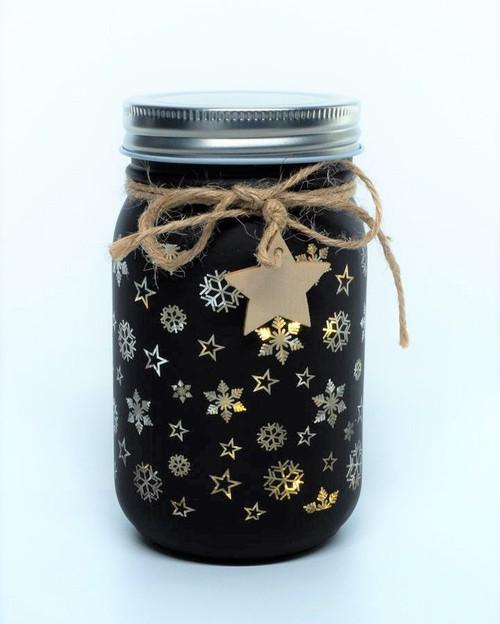 Festive 14cm Sparkle Jar*