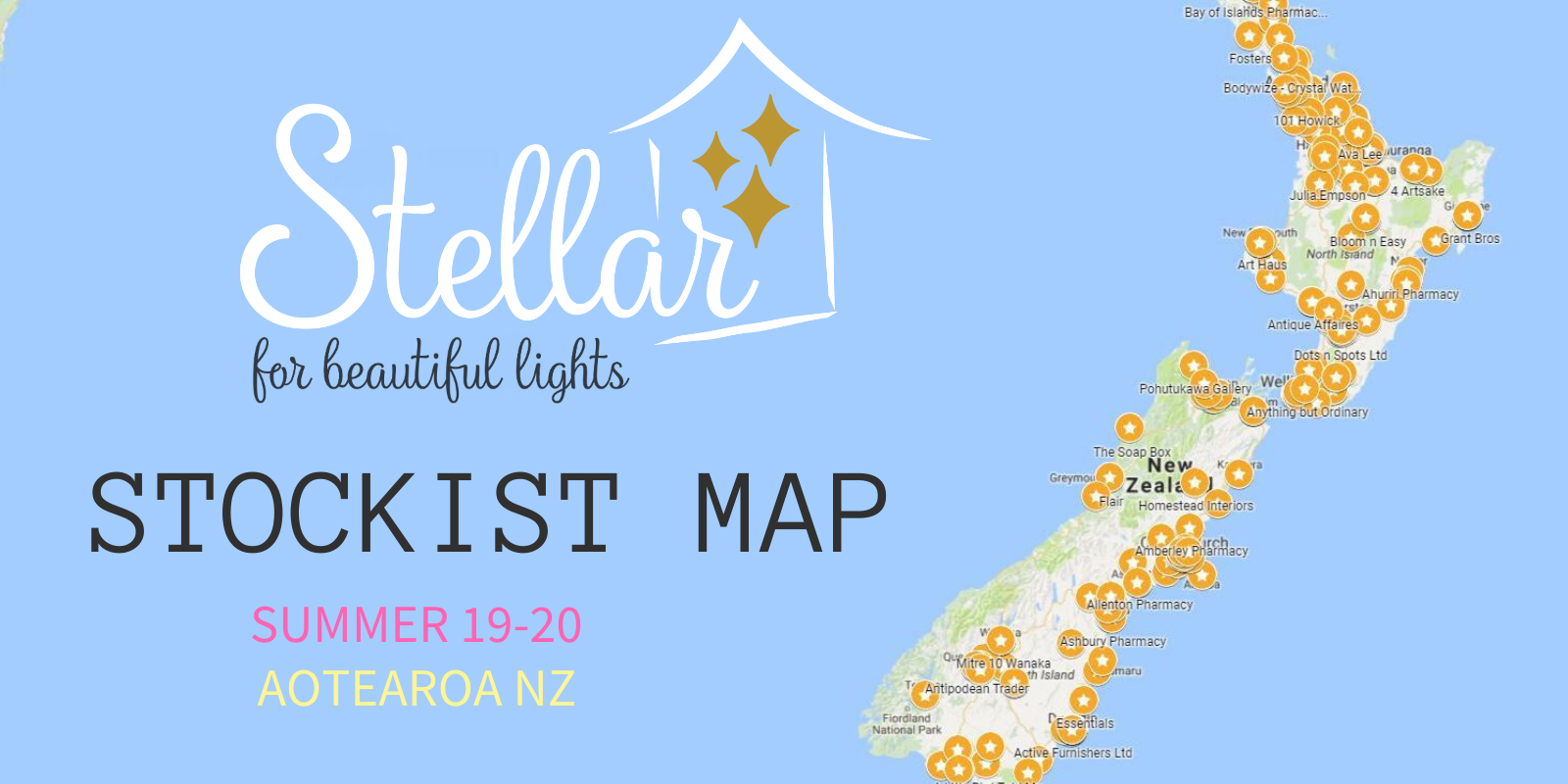 Stellar Stockist Map
