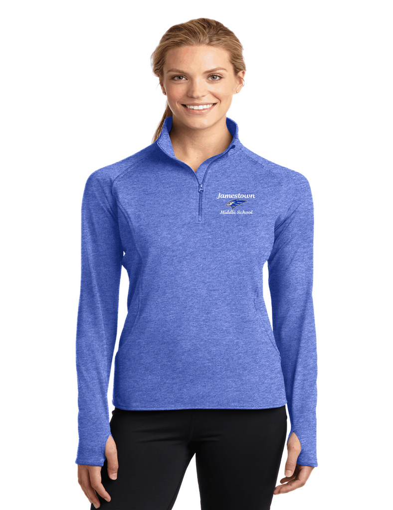 JMS LST850 Ladies Half Zip Pullover