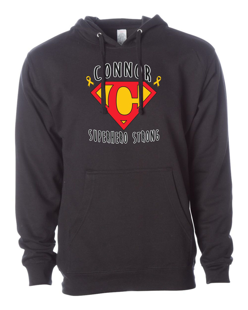 Connor Strong SS4500 Unsex Midweight Hooded Sweatshirt Adult
