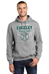 Edgeley Baseball PC90H Unisex Port and Company Essentail Fleece Pullover Hoodie