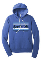 Sophistikix BC3719 Unisex Sponge Fleece Pullover Hoodie Heather True Royal