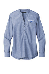 JMS LW382 Ladies Port Authority Long Sleeve Chambray Easy Care Shirt