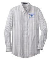 JMS S642 Unisex Tattersall Easy Care Shirt