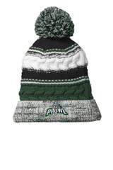 Prowl Hockey STC21 Sport Tek Pom Pom Beanie Forest Green-Black-White