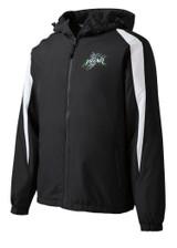 Prowl Hockey JST81 Unisex Sport Tek Fleece-Lined Colorblock Jacket Black-White