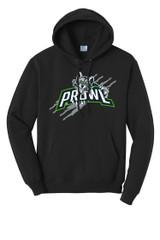Prowl Hockey PC78H Unisex Port and Company Core Fleece Pullover Hooded Sweatshirt Black