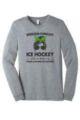 Prowl Hockey Mom BC3501 Unisex Jersey Long Sleeve Tee Athletic Heather