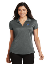 JMS L576 Ladies Trace Heather Polo