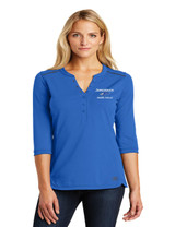 JMS LOG132 Ladies Fuse Henley Optic Blue