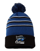 Outlaw SB 134 Richardson Stripe Pom Cuffed Beanie