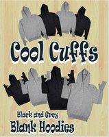 Cool Cuffs - Blank Black and Grey Hoodies
