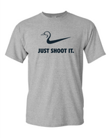 Just Shoot It Heather Tshirt Large