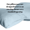 Our pillow cases are designed to use as an envelop closure or a standard opening
