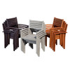 DTY Outdoor Furniture Leadville Eucalyptus Square Dining Set With 4 Stacking Armchairs