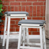 DTY Indoor Living Cortez Bonded Leather Stool White Gray