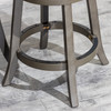 DTY Indoor Furniture Creede Backless Swivel Stool Weathered Gray Black