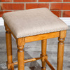 """DTY Indoor Living Emerald Lake Backless Stool, 24"""" Counter Height Linen Upholstered Seat"""
