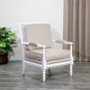 DTY Indoor Living Silverthorne Spindle Chair White, Beige