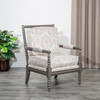 DTY Indoor Living Silverthorne Spindle Chair  Weathered Gray, Taupe Paisley