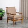 DTY Indoor Living Silverthorne Spindle Chair Weathered Oak, Mocha