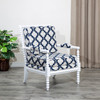 DTY Indoor Living Silverthorne Spindle Chair White, Navy Moroccan Tile