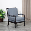 DTY Indoor Living Silverthorne Spindle Chair  Espresso, Ash